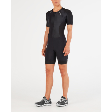 2XU Triathloneinteiler Compression Trisuit  Sleeved Damen BLK/BLK WT4843